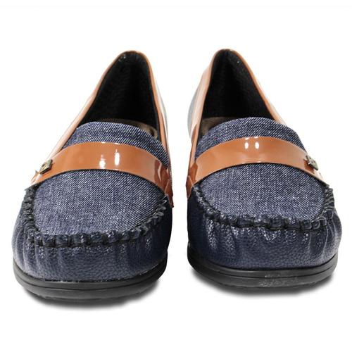 f99ed8abc3 Sapato Mocassim Piccadilly Com Detalhe Em Jeans - Marinho - R  136 ...