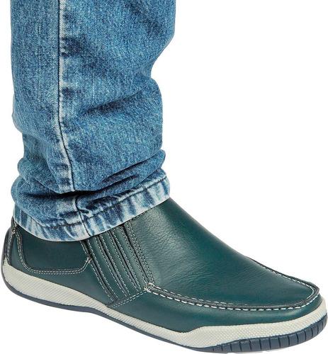 sapato mocassim sapatilha couro legítimo plume 6011 fb