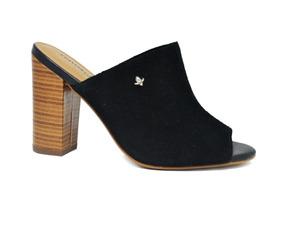 c13a38bdb9 Sapato Mule De Salto Feminino Cravo canela - Preto