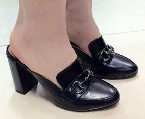 3083e332705 Sapato Aberto Atrás - Sapatos Preto no Mercado Livre Brasil