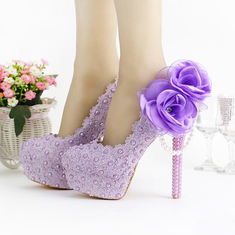 b5c3843d5 sapato noiva debutante lilás personalizado renda madrinha. Carregando zoom.