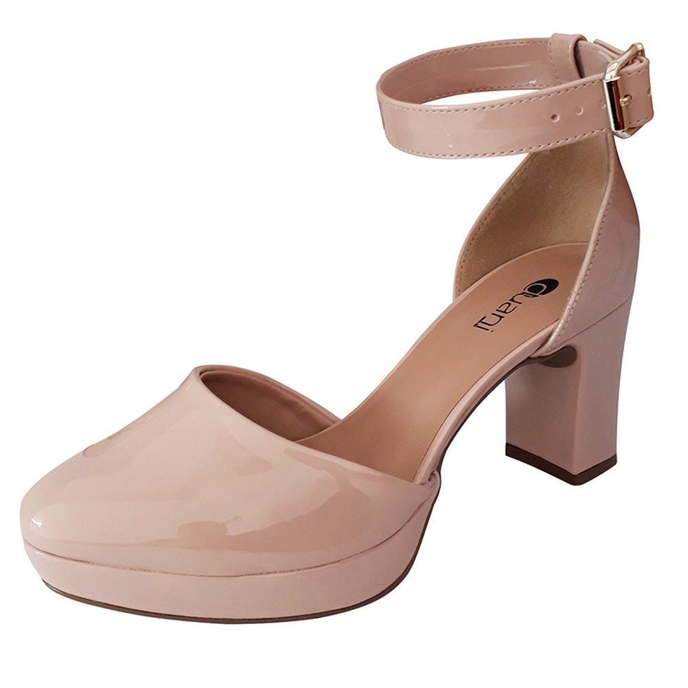 db7bdc9f51 sapato nude boneca feminino salto alto-medio meia pata. Carregando zoom.