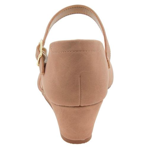 sapato nude feminino boneca salto baixo medio oferta confort
