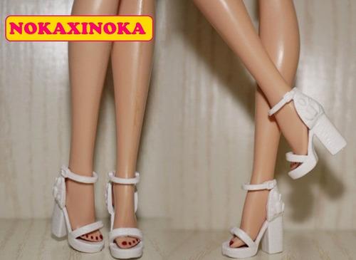 sapato original fashionista pra boneca barbie * branco retrô