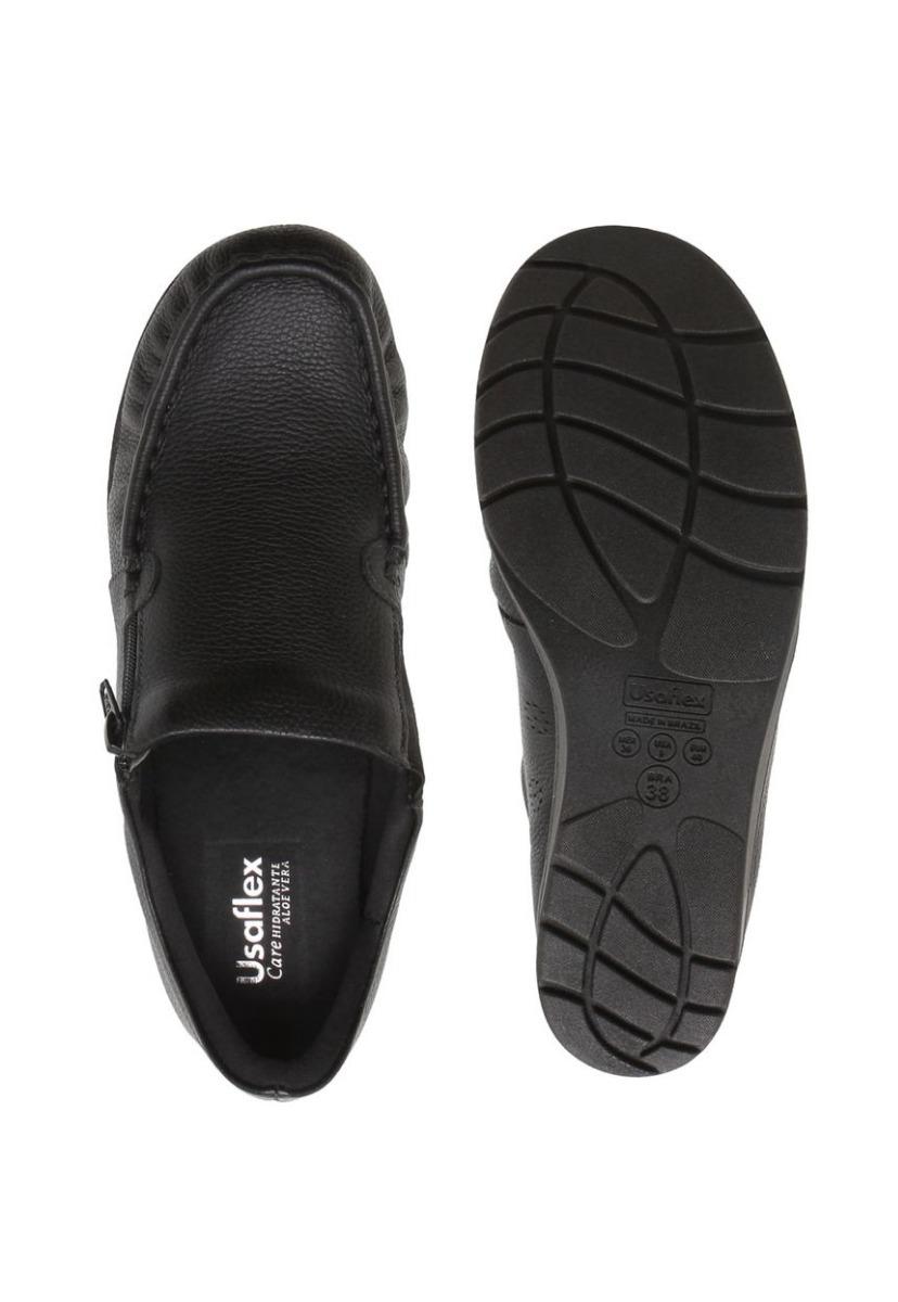 4fb214d4be sapato ortopédico feminino usaflex original couro preto. Carregando zoom.