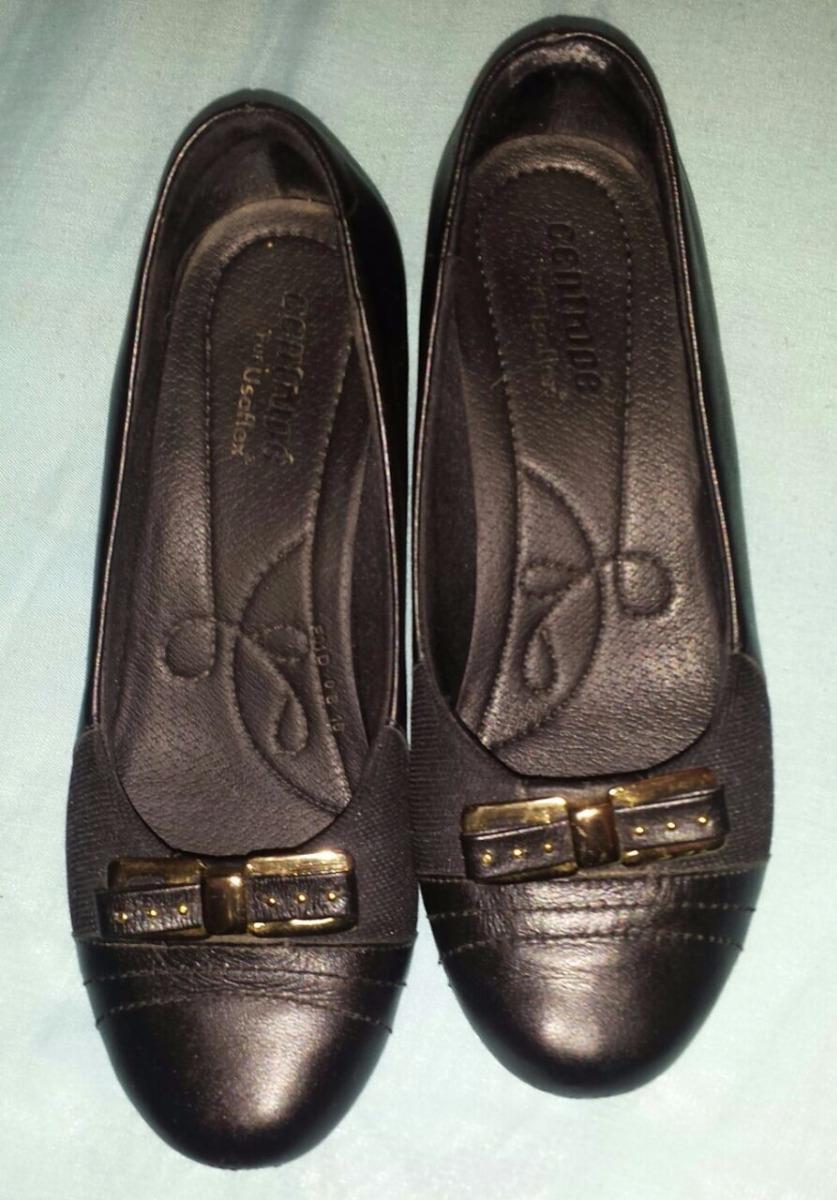 6b0c4203a0 Sapato Ortopédico Usaflex Couro Legítimo Preto - R$ 99,99 em Mercado ...