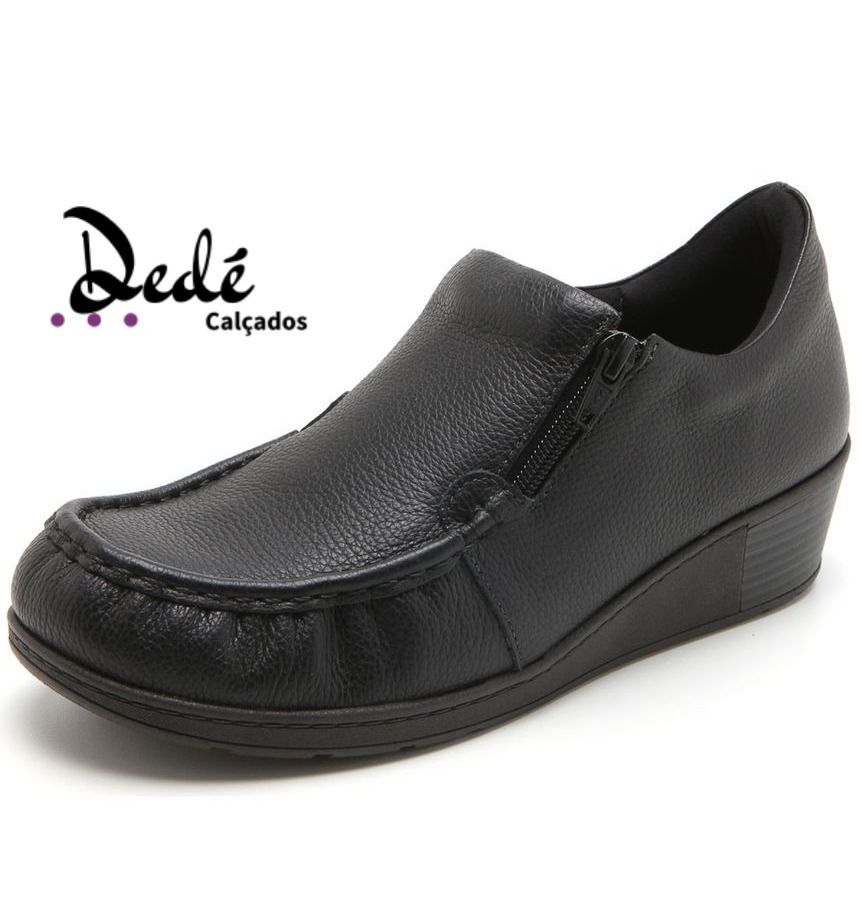 0deb0f1dd5 Sapato Ortopédico Usaflex Couro Preto Original - R$ 194,00 em ...