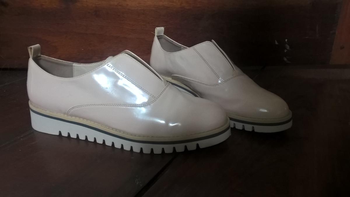 48bc0585f3 Sapato Oxford Bege Claro Unissex - Zara - Novo Impecável - R  89