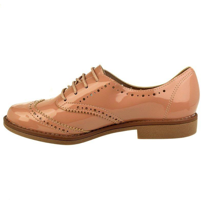 8ea12a4a5d Sapato Oxford Brogue Beira Rio Verniz Feminino - R  299