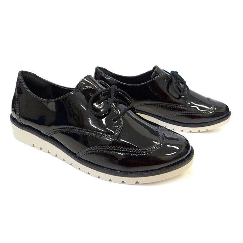 5bef2ea226 sapato oxford casual 1690202 - ramarim (43) - verniz preto. Carregando zoom.