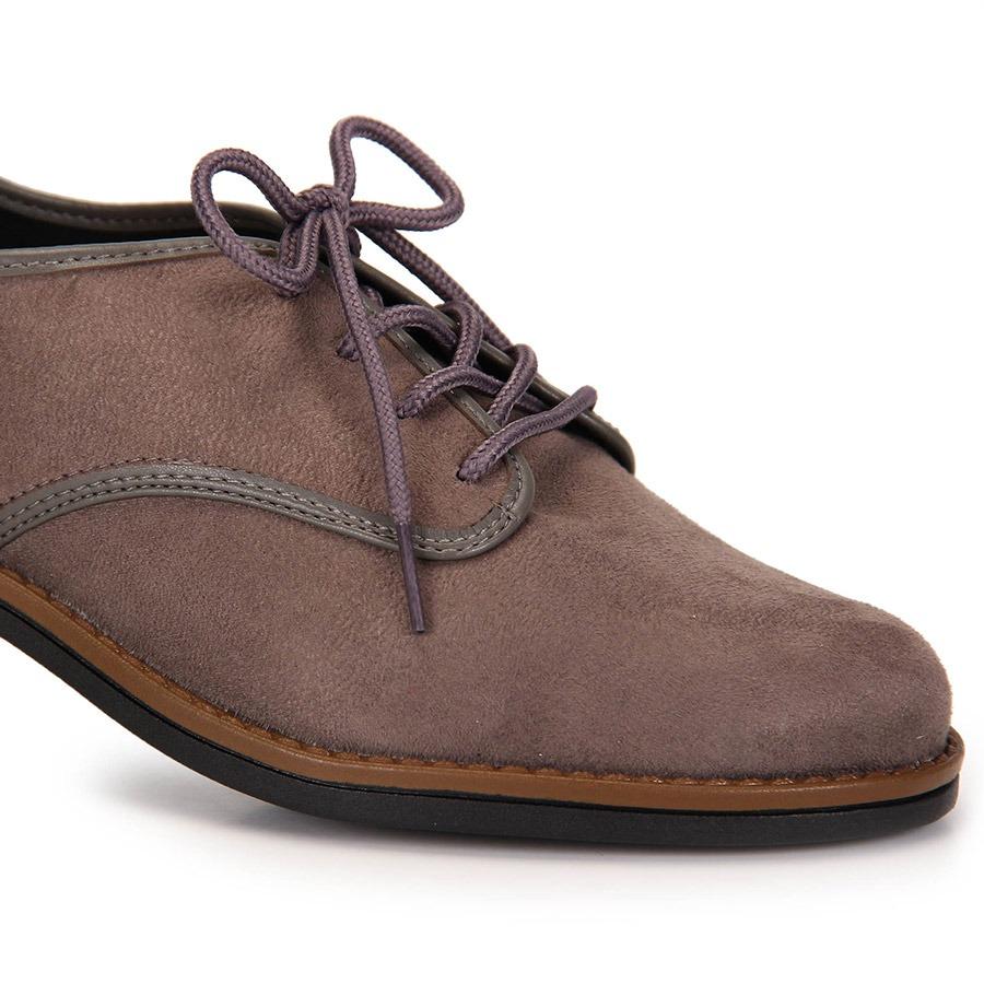 55fc0c3216 sapato oxford conforto beira rio camurça - cinza. Carregando zoom.