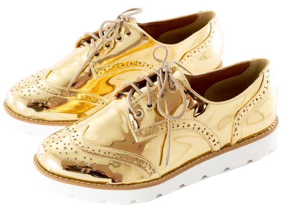3c87f4f14b sapato oxford dourado. Carregando zoom.