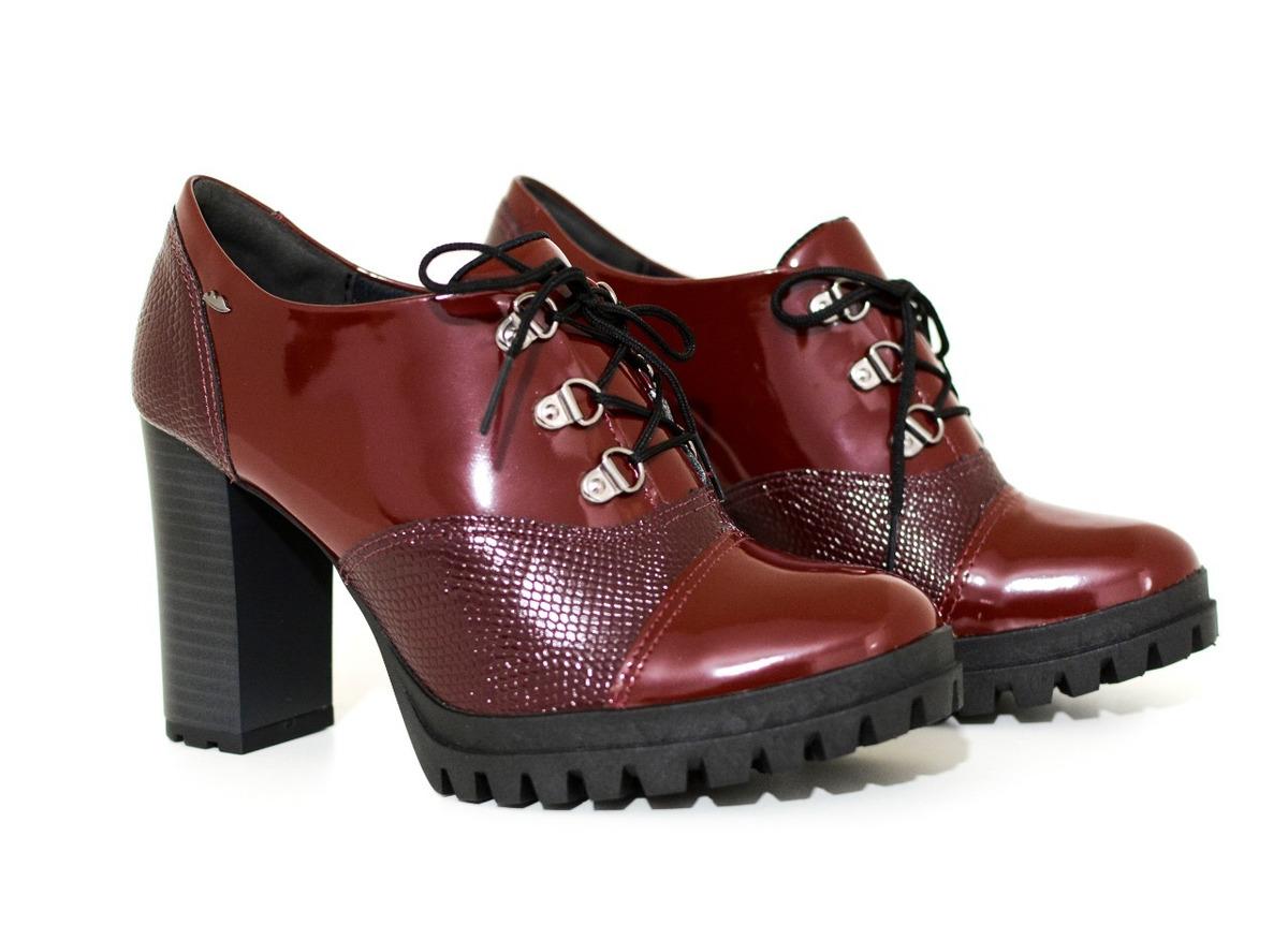 7c1929783d sapato oxford feminino dakota salto alto verniz cadarço. Carregando zoom.