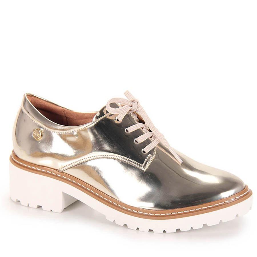 5126fcf18c sapato oxford feminino quiz - dourado(a). Carregando zoom.