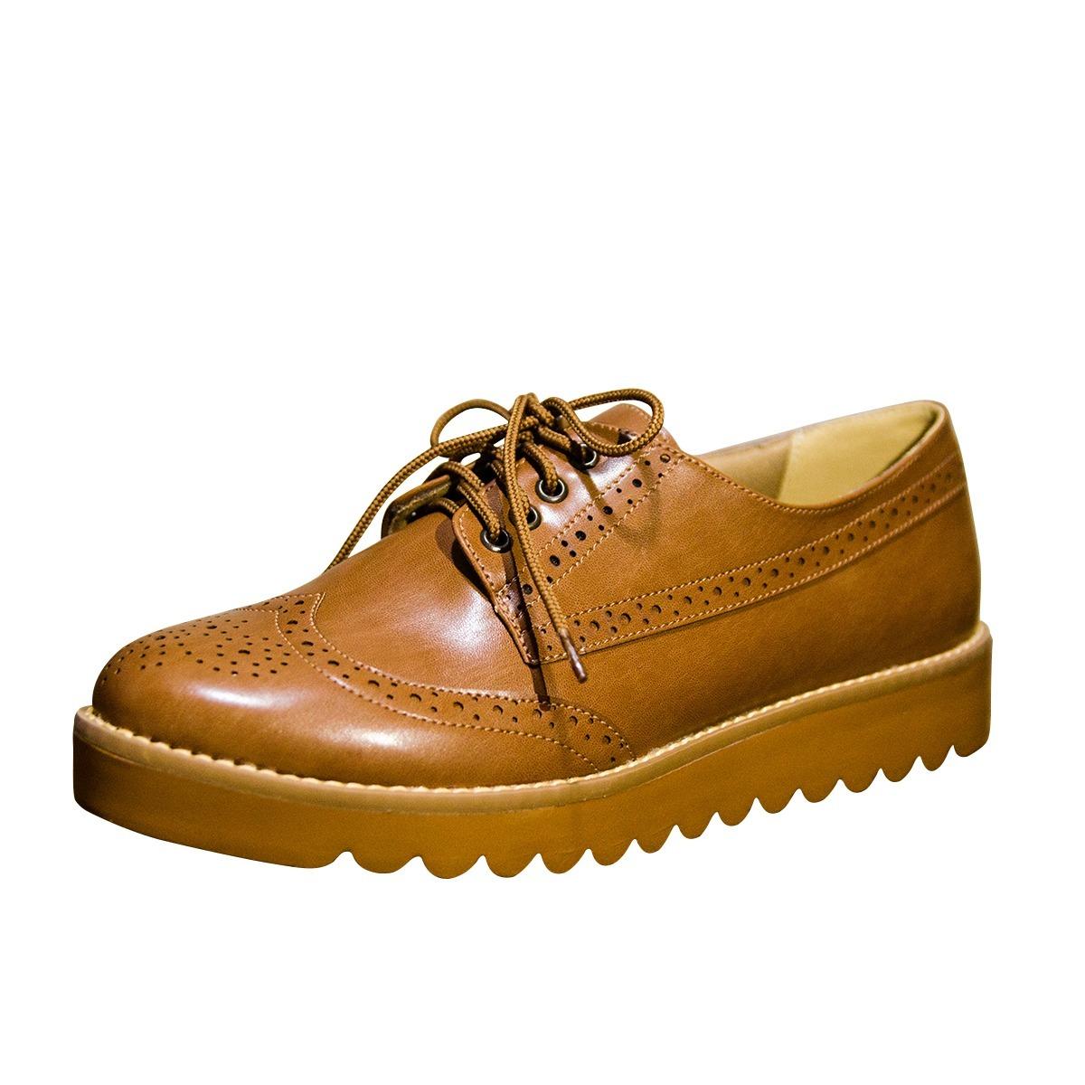 3e5fb9501e sapato oxford feminino sola tratorada marrom ref 1103. Carregando zoom.