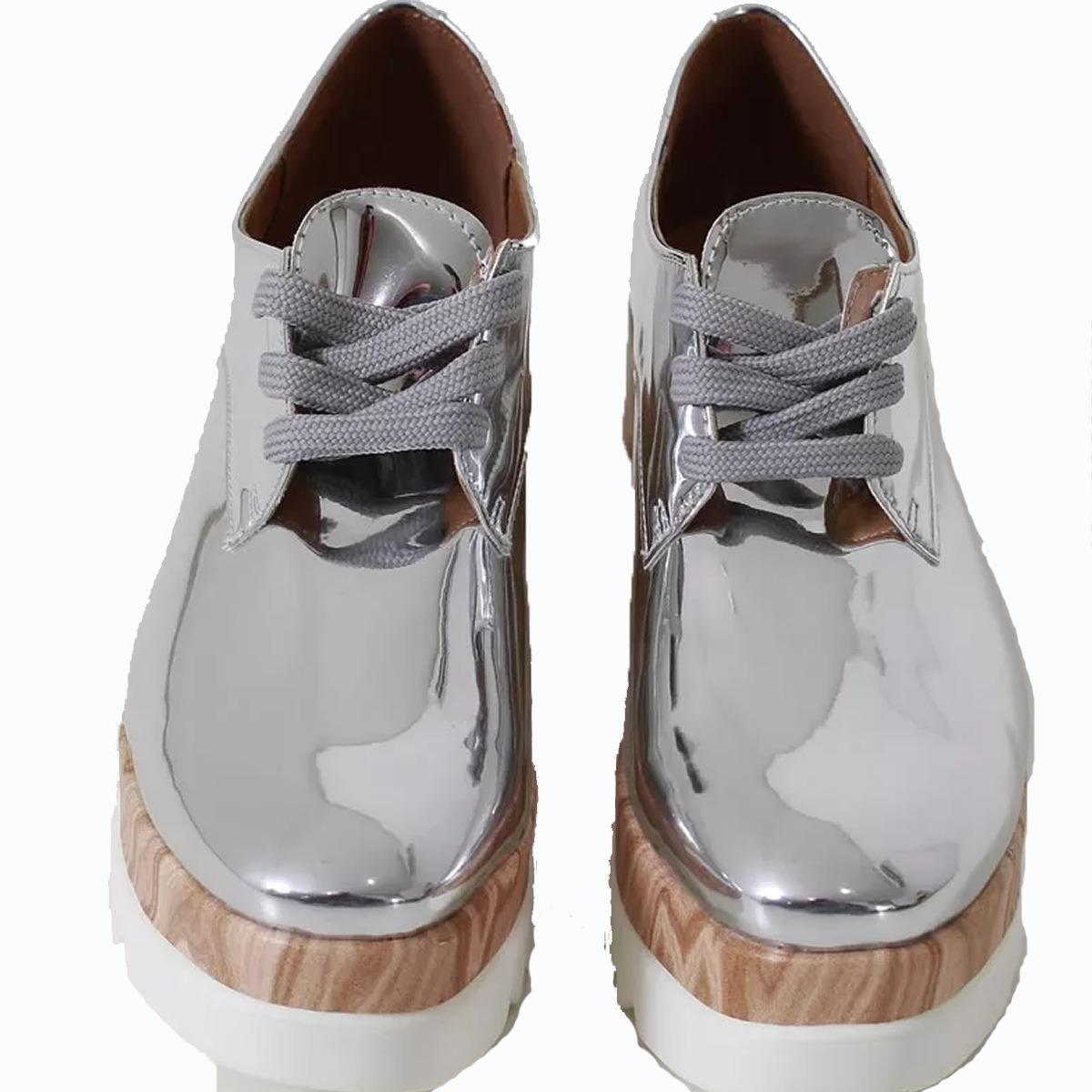 358cd880f sapato oxford feminino tratorado flatform vizzano prata. Carregando zoom.