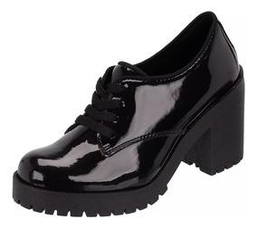 9cb2ac09e Oxford Preto - Sapatos Sociais e Mocassins para Feminino Oxfords com o  Melhores Preços no Mercado Livre Brasil