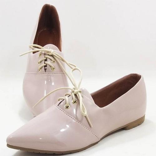 3bee2330c Sapato Oxford Feminino Verniz 2018 Sapatilha Pronta Entrega - R$ 68 ...