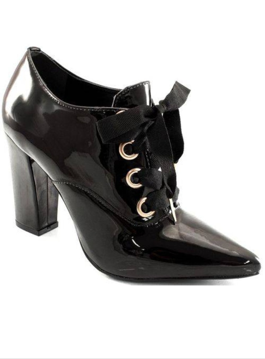4afc8585c Sapato Oxford Feminino Verniz Via Uno 211009 - R$ 149,90 em Mercado ...
