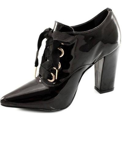 d029e629b Sapato Oxford Feminino Verniz Via Uno 211009 - R$ 149,90 em Mercado ...