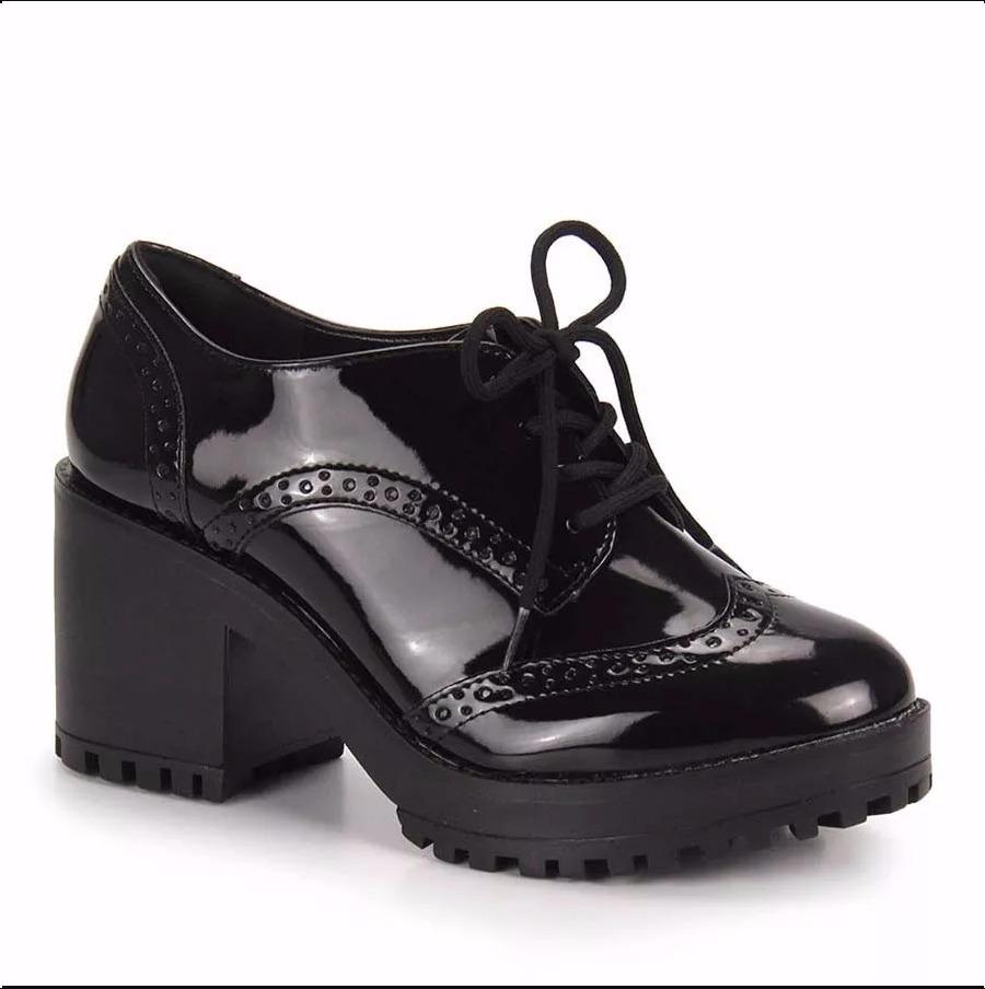 ec2595a6f sapato oxford feminino via marte 17-6499 preto. Carregando zoom.