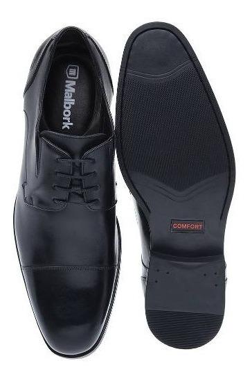 42970ca00f Sapato Oxford Malbork Couro Legítimo Preto Solado Comfort - R$ 175 ...