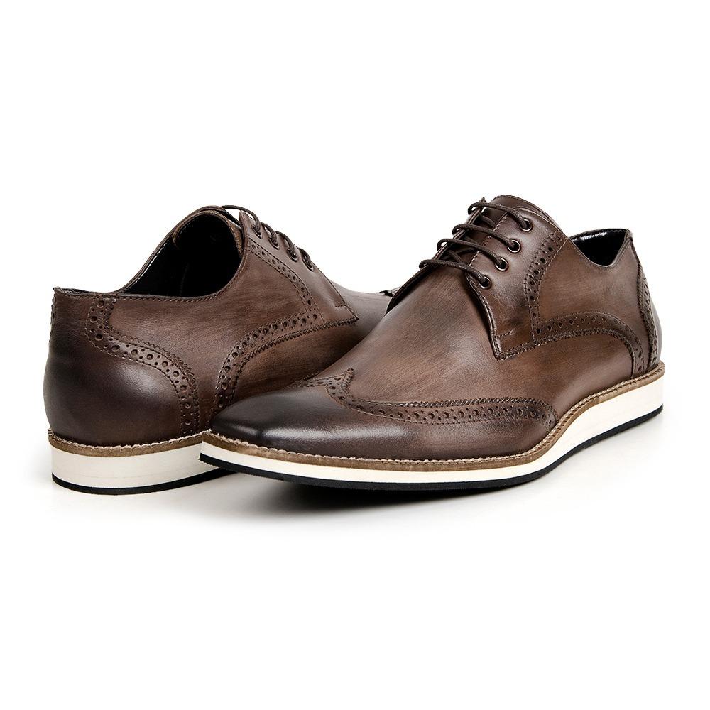 8659c9ea18 sapato oxford masculino inglês brogue derby couro legítimo. Carregando zoom.