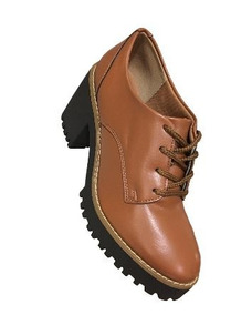 4d56d084e4 Sapato Oxford Feminino Caramelo - Sapatos no Mercado Livre Brasil