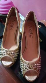 41c02b0594 Sapato Dourado Noiva - Calçados
