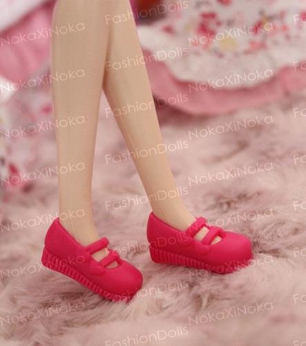 sapato para boneca blythe barbie * sapatinho pé reto