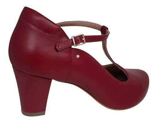 sapato para dança boneca vermelho salto medio grosso duani