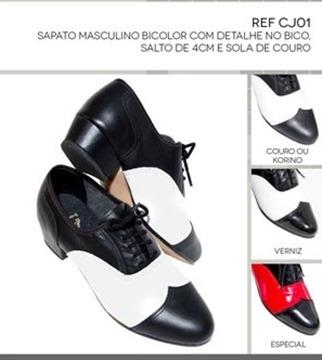 Sapato Para Dança De Salão Bicolor Em Verniz Masculino - R  179 8652b29982ecc