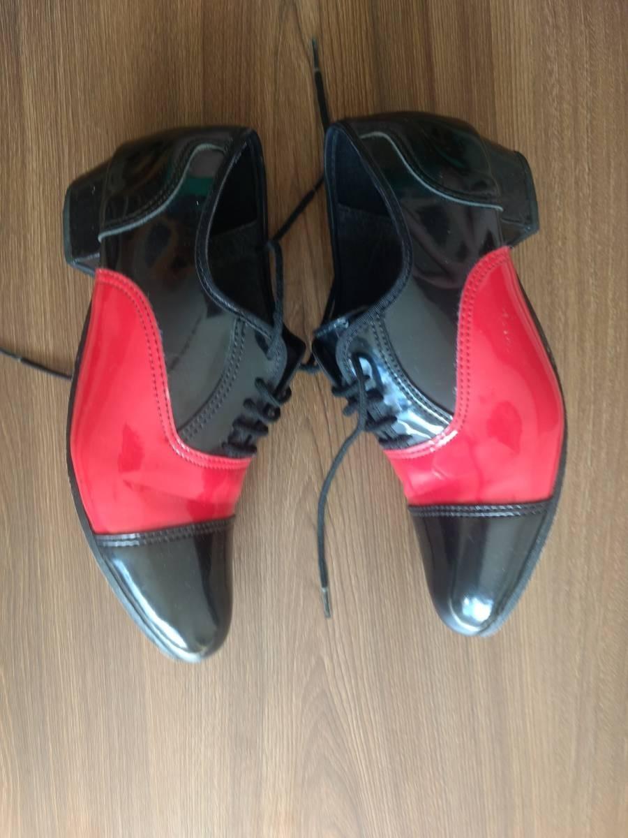 sapato para dança de salão bicolor em verniz masculino. Carregando zoom. 03e16f9457674