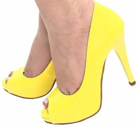 b15bea7b7d Peep Toe Amarelo - Scarpins e Plataformas para Feminino Peep toes ...