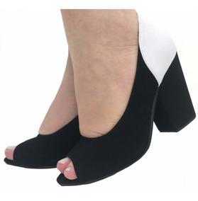 36cccd32e Scarpin Bicolor Preto E Branco Feminino - Sapatos com o Melhores Preços no  Mercado Livre Brasil