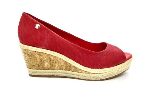 4071c97671 Sapato Anabela Peep Toe Bottero Couro Vermelho 295546. N38 - R  179 ...