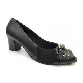 b964876e6b Feminino Peep Toe Usaflex - Sapatos Preto no Mercado Livre Brasil