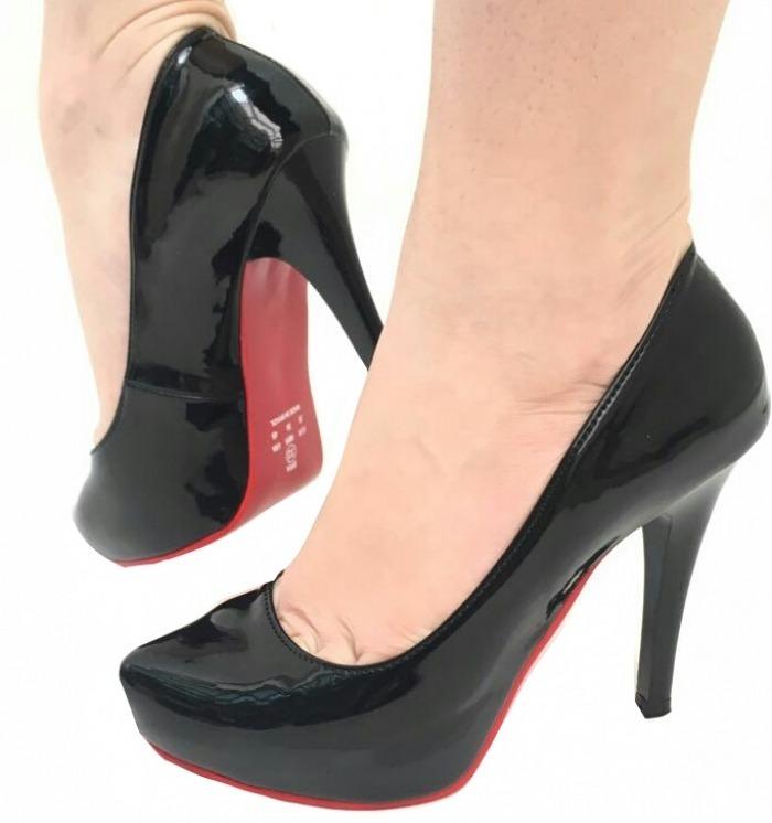 3c99da2153 Sapato Peep Toe Feminina Preto Salto Alto Salto Fino Festa - R  123 ...