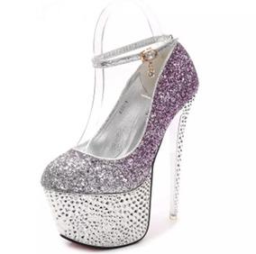 484e8cfde1 Sapato Peep Toe Roxo - Sapatos no Mercado Livre Brasil