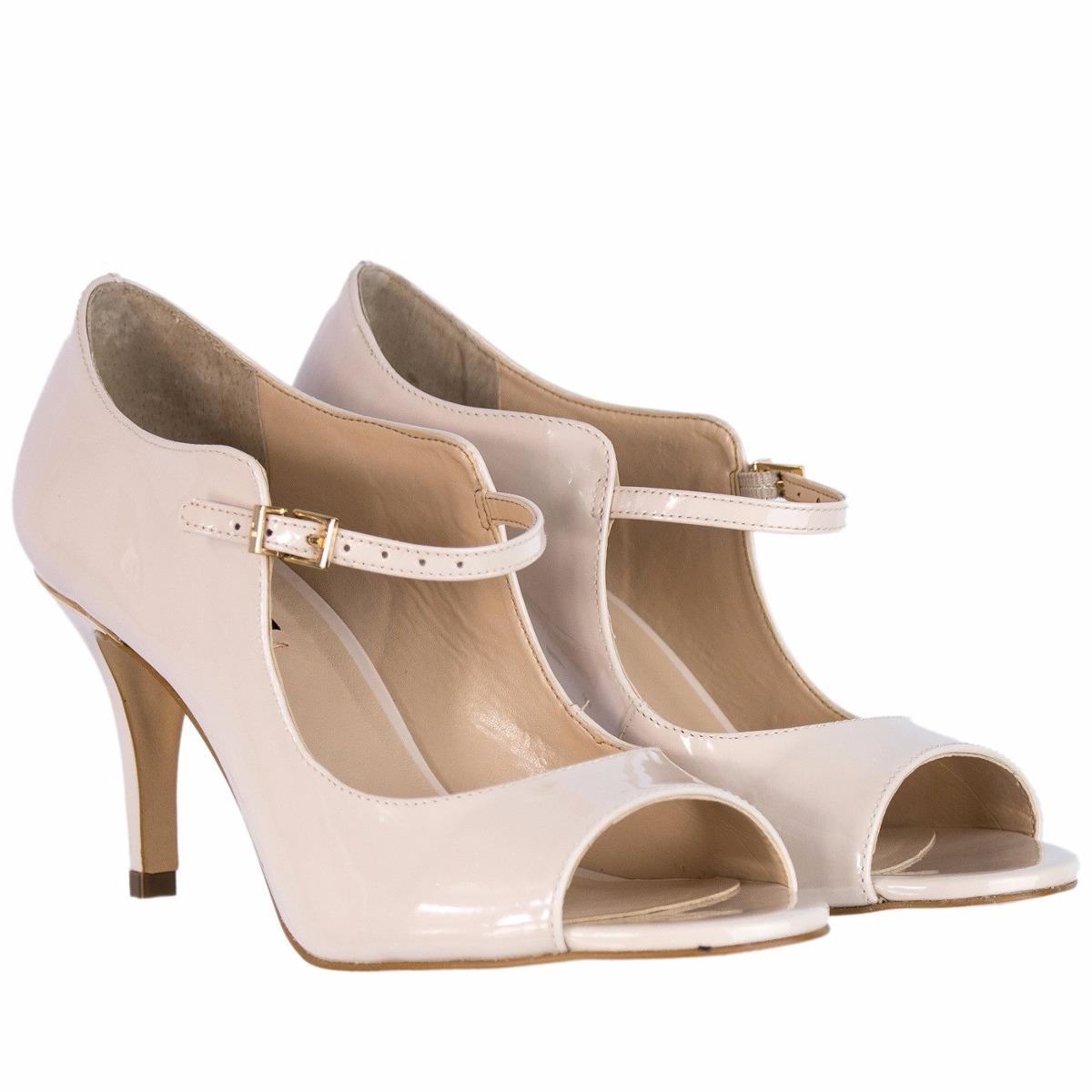 c88c7a8671 sapato peep toe feminino jorge bischoff verniz salto médio. Carregando zoom.