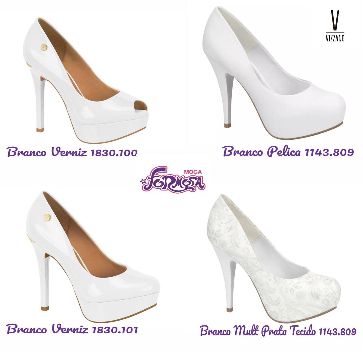 89c13764c sapato peep toe feminino vizzano - noiva branco. Carregando zoom.