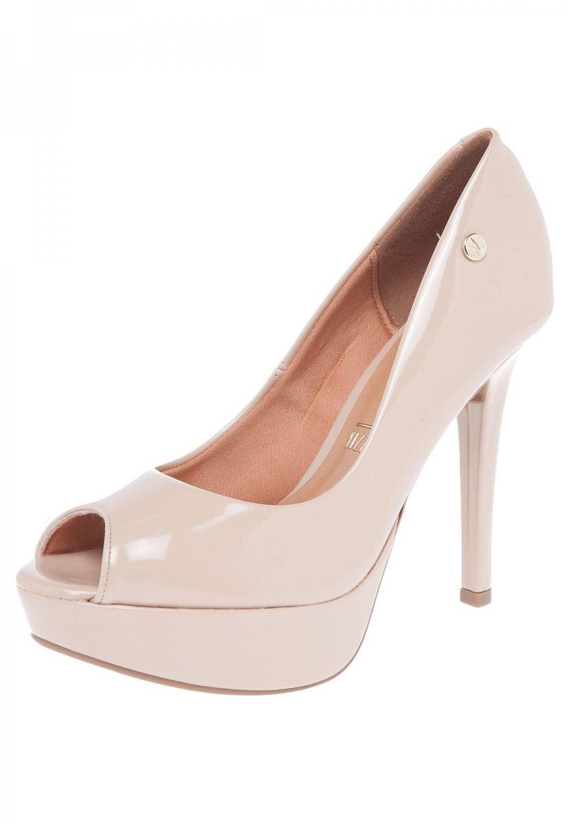 7528511ee sapato peep toe feminino vizzano salto alto bege 1830100. Carregando zoom.