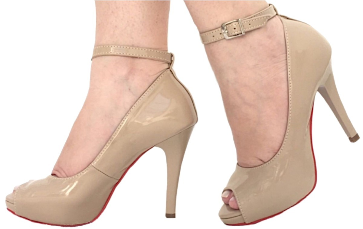 d0bfdac93 sapato peep toe preto creme meia pata salto alto fino barato. Carregando  zoom.