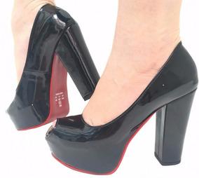 51c78e9085 Salto Alto Louboutin Solado Vermelho - Sapatos com o Melhores Preços no  Mercado Livre Brasil