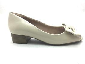 2c184c5dd Peep Toe Salto Baixo - Scarpins e Plataformas para Feminino Peep toes com o  Melhores Preços no Mercado Livre Brasil