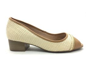 c2ae5c53f Peep Toe Couro Nude Martinez Mulher Ramarim - Sapatos com o Melhores ...