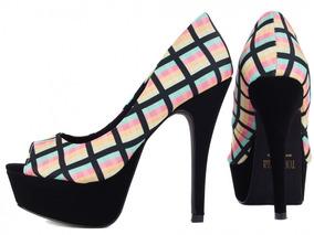 47eeee22f Sandalias Lindas De Festa Importadas Feminino Peep Toe - Sapatos no ...