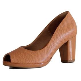 e7d01969d Scarpin Perola Salto Grosso Usaflex - Sapatos com o Melhores Preços no  Mercado Livre Brasil