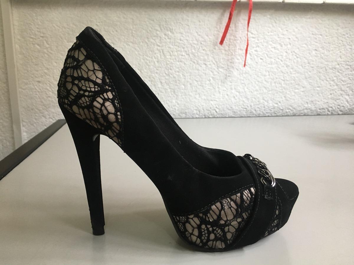8d35220b4e sapato peep toe via marte preto com detalhe renda. Carregando zoom.