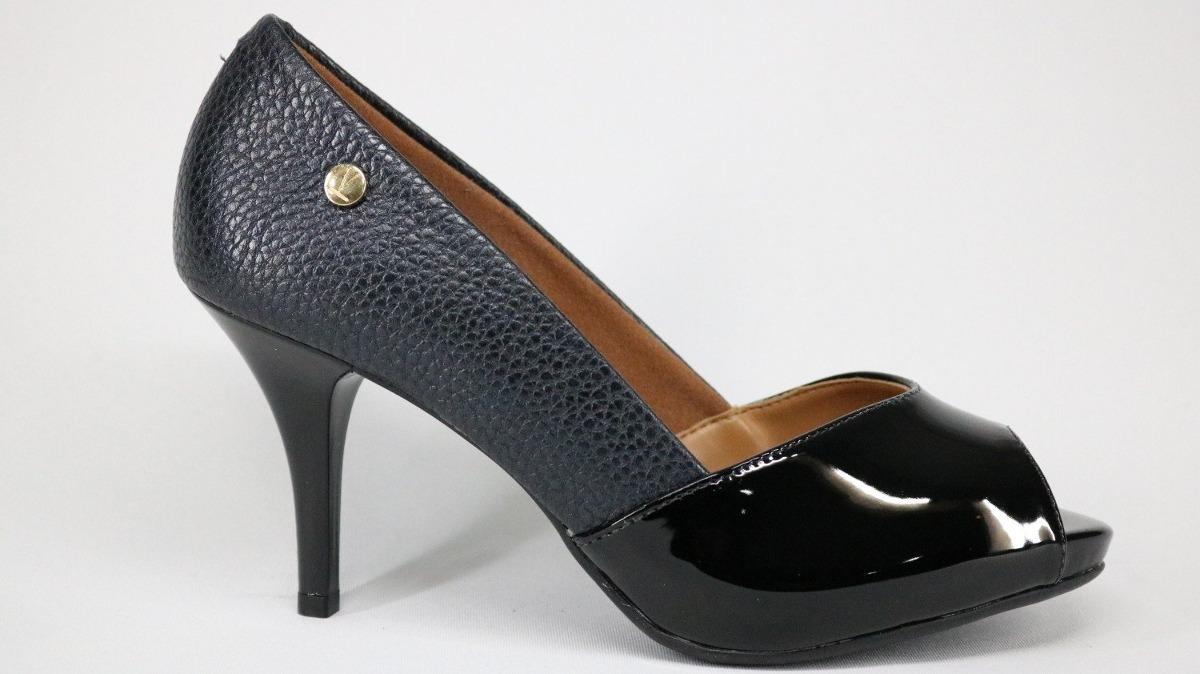 267fddc571 sapato peep toe vizzano verniz preto e rosa - 38 - preto. Carregando zoom.
